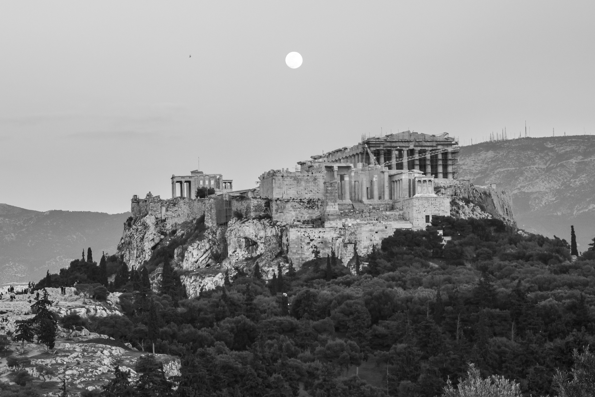 [Acropolis; High city.]<br> The Acropolis of Athens, located about 150m above sea level, is the most important archaeological site of ancient Greece. <br>The citadel, as in almost all the villages of ancient Greece, served as a place of worship for the ancient gods or deities and also fulfilled a defensive function.